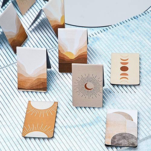 10 Pieces Magnetic Bookmarks Sun Magnet Page Markers Assorted Inspirational Book Markers Set with Landscape for Students Teachers Reading Photo #6