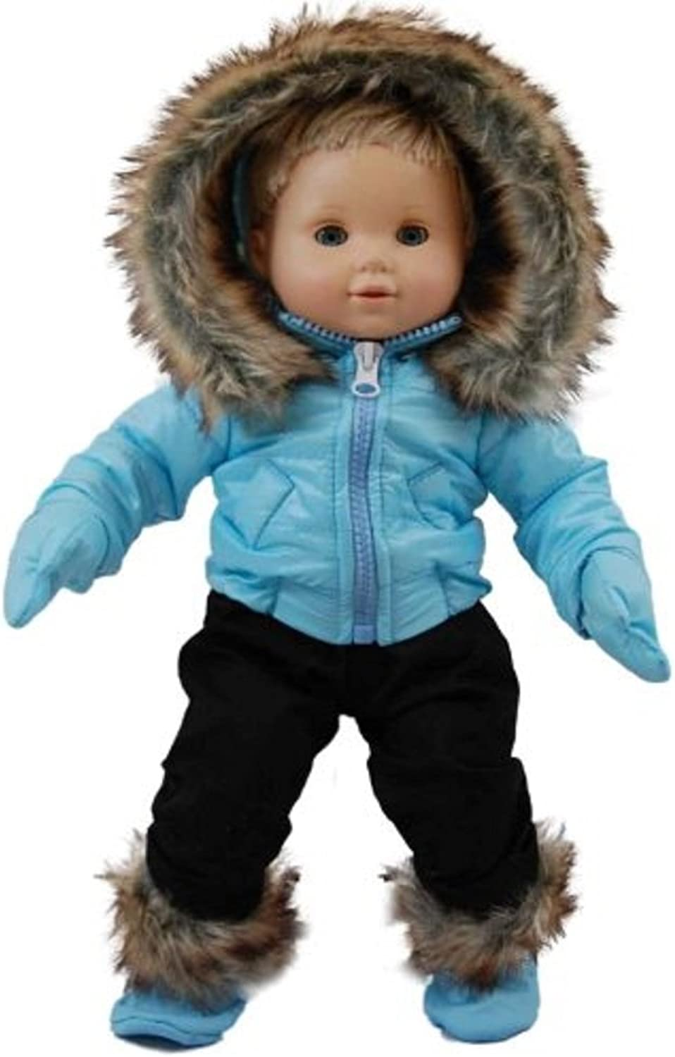 The Queen's Treasures bluee Snow Suit Outfit for 15-Inch American Girl Bitty Baby
