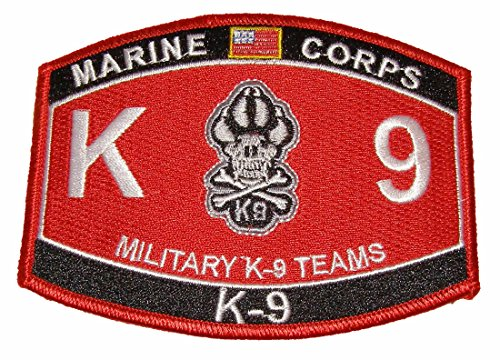 United States Marine Corps MOS Marine K-9 Military Teams MOS Military Patch - Veteran Owned Business