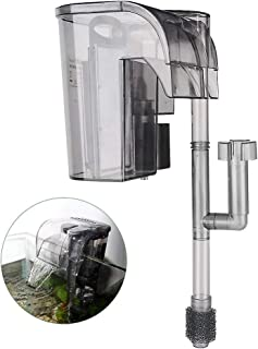 Boxtech Aquarium Hang On Filter - Power Waterfall Suspension Oxygen Pump - Submersible Hanging Activated Carbon Biochemical Wall Mounted Fish Tank Filtration Water