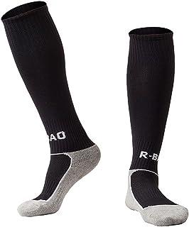 Calcetines de algodón unisex a la rodilla con rayas altas para fútbol y hockey