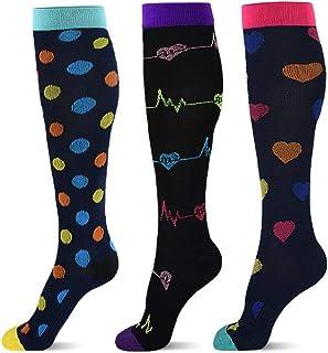 WZDSNDQDY Calcetines de Tubo para Hombre, Calcetines Deportivos de Lunares, 3 Pares, Calcetines de Baloncesto, Material de Nylon, Transpirables Resistentes al Desgaste, Medias Casuales