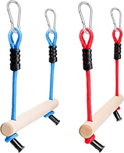 Monkey Bars for Kids (2 Pack), Ninja Line Accessories for Slackline Obstacle Course - Easy Attachment to Most Any Home Playground Equipment Sets