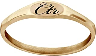 J183R LDS Unisex CTR Ring Pixi Stainless Steel Rose Gold Tone Size 5-9 One Moment in Time