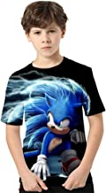 Silver Basic Film Shirt Sonic The Hedgehog Maglia Confortevole Shirt Sonic Stampa Bambino Costume Felpa