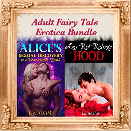 'Alice's Sexual Discovery in a Wonderful Land' and 'Amy Red Riding's Hood' audiobook cover art