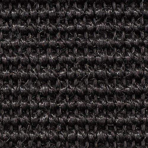Teppichboden Auslegware | Sisal Naturfaser Schlinge | 400 cm Breite | schwarz | Meterware, verschiedene Größen | Größe: 4,5 x 4m