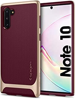 Spigen Samsung Galaxy Note 10 Neo Hybrid cover/case - Burgundy with Gold frame