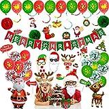 McNory Ballon de Noel, 63Pcs Décorations de Noël Ballons Joyeux Noël Kit...