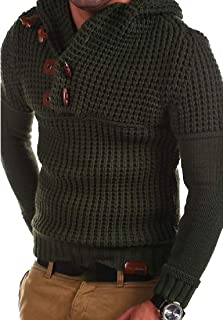 Men's Sweaters Turtleneck Cable Knit Button Down Chunky Casual Fall Winter Cardigans Jackets