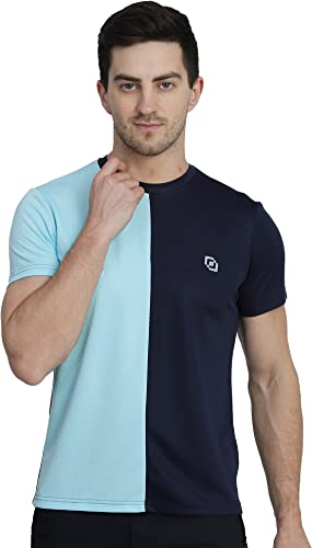 Twin Tone Mens and Boys Casual Wear Dry Fit Brick Knit Sporty Round Neck T Shirt