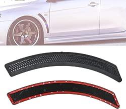 Fit for 2010-2016 Mitsubishi Lancer EVO 10 X Style Black Carbon Stripe Mesh Front Fender Side Vent Cover