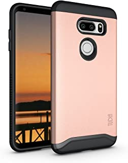 TUDIA Merge LG V35 ThinQ Case with Heavy Duty Extreme Protection/Rugged but Slim Dual Layer Shock Absorption Case for LG V35 ThinQ (Rose Gold)