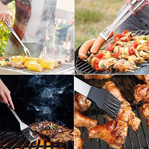 61vx7jbmrqL. SL500  - SISHUINIANHUA 20PCS BBQ Grill Zubehör Werkzeug-Satz, Edelstahl Grilling Kit Mit Oxford Tuch-Kasten Für Camping/Küche, Grillzubehör