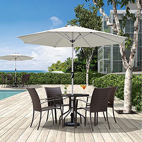 Outdoor Umbrella, Patio Umbrellas, Market Sunbrella, 2.7m/8.85ft Round Windproof Parasol, With Tilting Mechanism, For Lawn, Swimming Pool, Backyard Garden, With 8 Strong Ribs