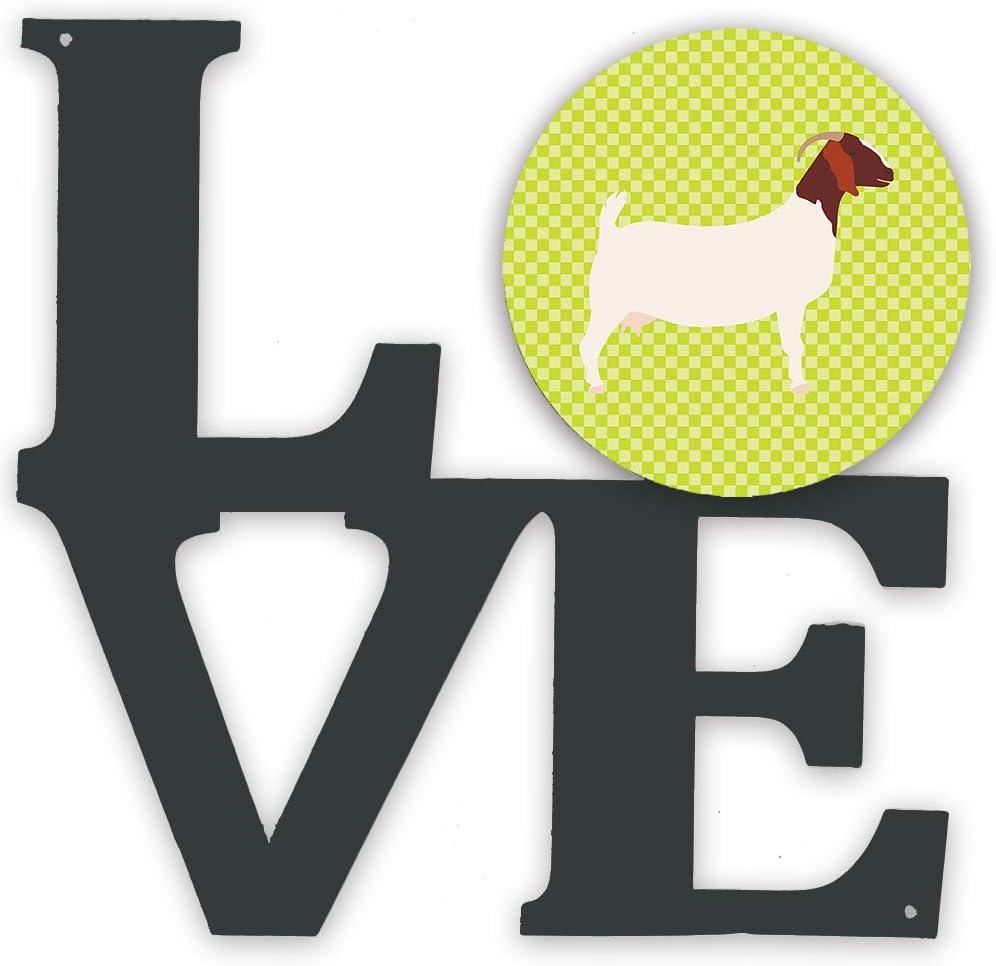 Caroline's Treasures Ranking integrated 1st New product!! place Boer Goat Green Metal Artwork Love Wall-Dec