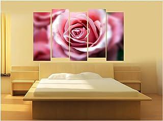 Kyara Arts Split Wall Painting In Multiple Frames || Wooden Framed Art Panels || wall painting flowers || 7mm Hard MDF Boa...