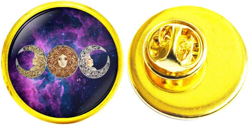 WitchBrooch MoonPin MoonJewelry HalloweenBrooc OFFicial Sales results No. 1 mail order WiccanBrooch