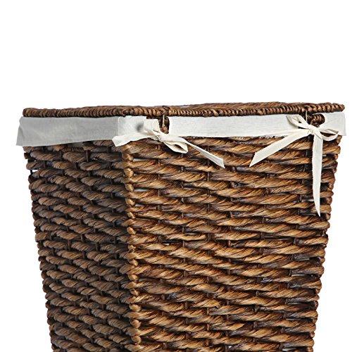 Casa Mina Wäschekorb Wäschebox Wäschesammler aus Wasserhyazinthe Brunei braun 61cm - 6