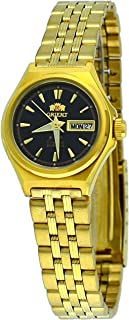Orient #FNQ1S001B Women's Gold Tone Tri Star Black Dial Automatic Watch