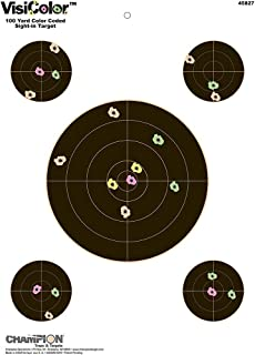 Champion VisiColor Sight-In Target with 4 Extra Bulls (Pack of 10)
