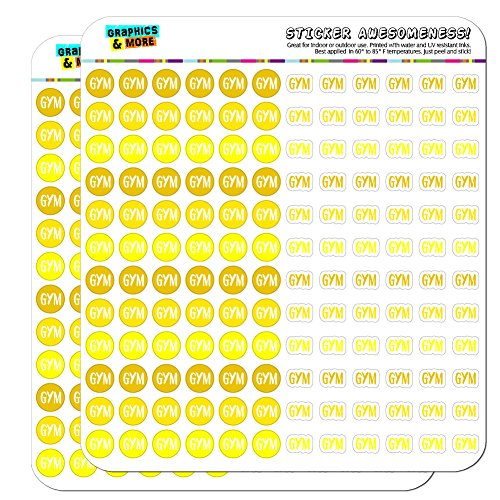 Gym Dots Planner Calendar Scrapbooking Crafting Stickers - Yellow - Clear