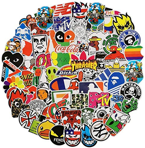 Cool Stickers for Skateboard, Vinyl Water Bottle Laptop Computer Phone Notebook Luggage Guitar Skateboard Decal 100Pcs Pack (Brand)
