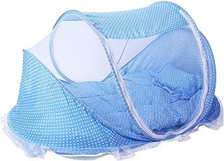 comprar comparacion ThreeH Plegable bebé cuna tienda de peso ligero Mosquitera emergente cama de viaje BX03,Blue