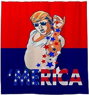 GOEMIX Trump 2020 Make American Great Again Bea Salt Gift Cozy Pleasing Waterproof Shower Curtain Polyester Fabric Bathroom Curtain
