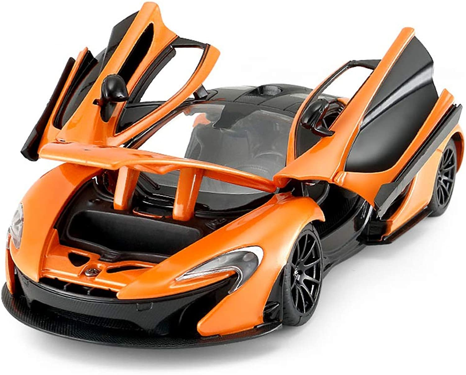 MUYB Car Model Die Casting Car McLaren Simulation Alloy Toy Car Boy Static Car Model 1 24 Can Open The Door (color   orange)