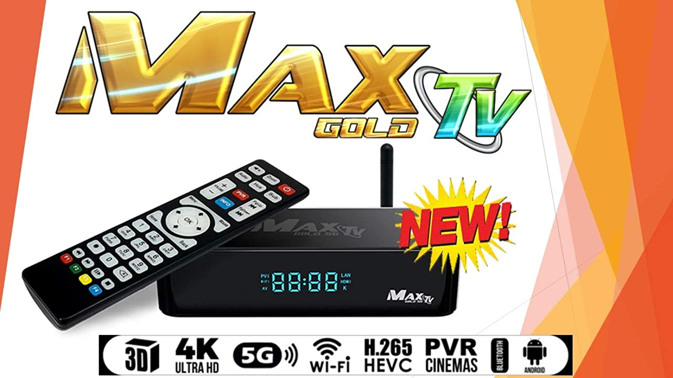 MAX TV Gold 5G PVR IPTV + Android 7.1 64-bit Multi-Core 4K@60fps 2019 Version