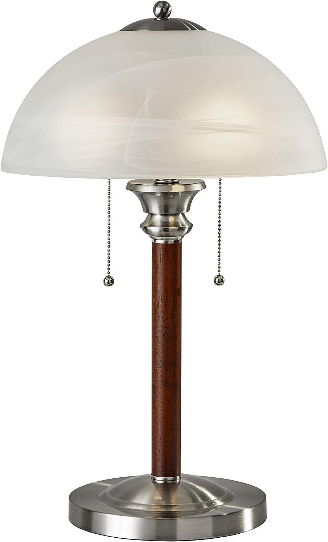 Adesso 4050-15 Lexington Table Lamp – Lighting Fixture with Walnut