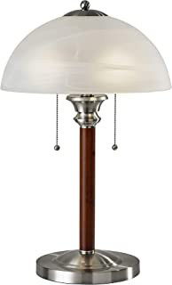 Adesso 4050-15 Lexington 22.5  Table Lamp – Lighting Fixture with Walnut Wood Body, Smart Switch Compatible Lamp. Home Improvement Equipment