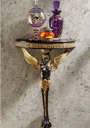 Egyptian Goddesses Decorative Sculptural Home Gallery Wall Shelf (Xoticbrands)