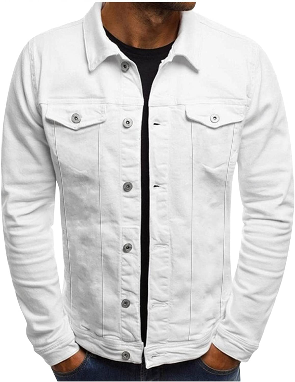 Beshion Men's Work Jacket Button Lightweight Multi-Pocket Stand Collar Casual Thin Coat
