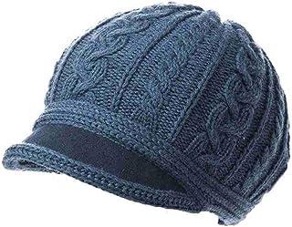 PLL ブルーファッションウィンターハット女性の厚手ウールの帽子ウォームキャップとベルベットニット帽
