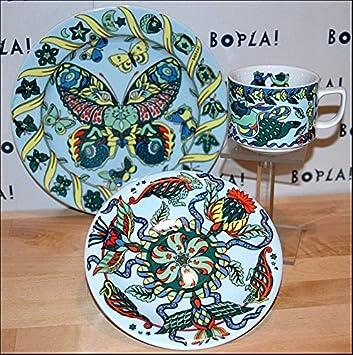 /Ø 16 cm 6-1//4 in.210g Bopla Mini Plate//Saucer Mini Plato//PLATILLO Mini Piatto//PIATTINO ROZIERE Porzellan Unterteller 16cm f/ür Kaffeetasse oder Mug Mini ASSIETE//SOUCOUPE