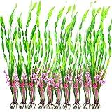 Acuáticas Artificiales Plantas, 10PCS Plantas Pequeño de Acuario Decoraciones plásticas del Tanque de Peces, Planta de simulación Viva Criatura Acuario Paisaje Verde