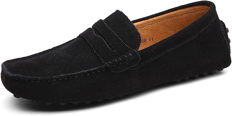 Rismart Mens Moccasin Slippers Black Size  13 M US