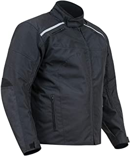 BiLT Blast Men's Waterproof Motorcycle Jacket, Black, M