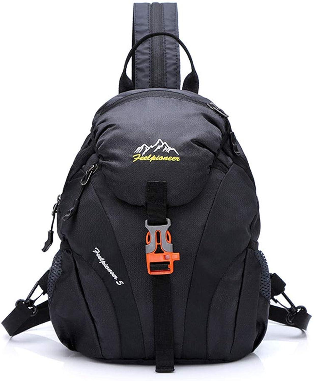 New Outdoor Leisure Backpack Portable Single Shoulder Diagonal Dual-Use Bag Women's Multi-Function Travel Riding Daypacks,Black,30  20  13cm