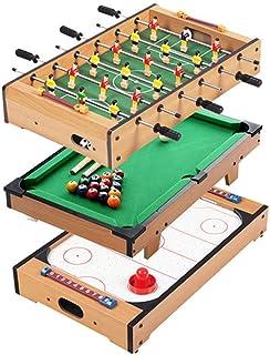 YUHT Mini Juego de Mesa multijugador con Billar, Air Hockey, futbolín (fútbol: 48x28x9 cm Billar: 52x31x10 cm Hockey sobre Hielo: 51x31x9 cm) Futbolín URG: Amazon.es: Deportes y aire libre