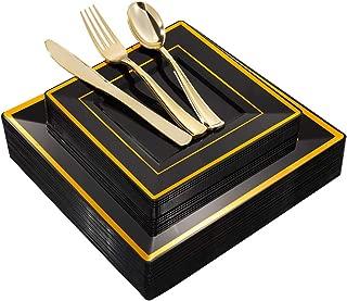 Best black square disposable plates Reviews