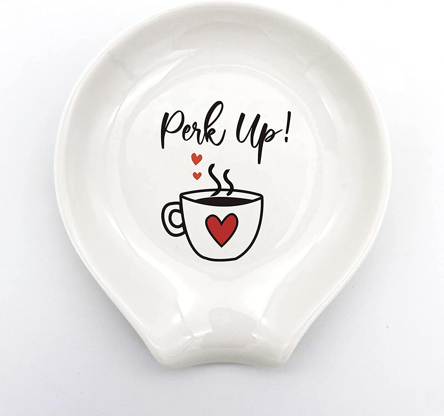 family Kitchen Funny White Ceramic Rests Up San Diego Mall Perk Max 58% OFF Spoon