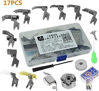 Piezas Prensatelas Accesorios, Piezas de la máquina de coser industrial 17pcs presiona los accesorios y el caso del pie de presión Presser