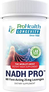 ProHealth Energy NADH (25 mg, 60 lozenges) Boost Energy, Memory and Focus | Mood Support | Antioxidant | ATP Production