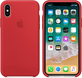 حافظة سيليكون لهواتف ابل ايفون X - احمر MQT52