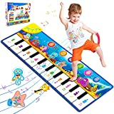 Foayex Baby Piano Mat, Musical Toys for Toddlers 1-3, Floor Piano Keyboard Mat with 8 Instrument Sounds-Touch Play for Early Learning, Birthday Gifts for 1 2 3 Year Old Boys Girls (43.3x14.2inch)