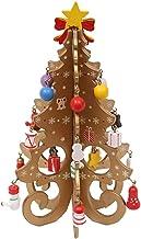 EMFGJ Kerstboom Houten Stereo DIY kerstversiering Ornamenten Kerstboom Desktop Decoratie, Geel