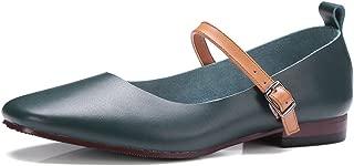 Nine Seven Women's Leather SquareToe Lowheel